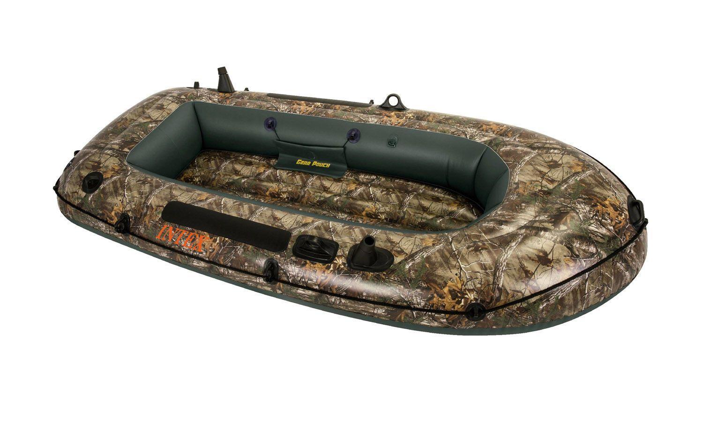 Intex Realtree Camo Seahawk (2) Inflatable Boat Fishing