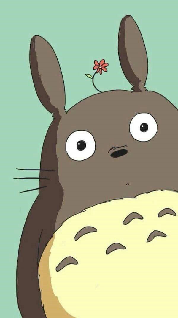 Pin by marwa mamdouh on wall papers pinterest pantalla - Totoro wallpaper iphone ...