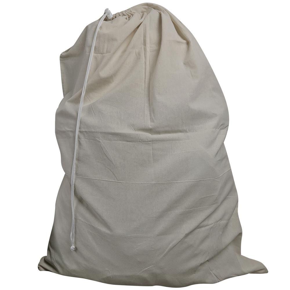 Evelots Drawstring Beige Canvas Laundry Bag 공작