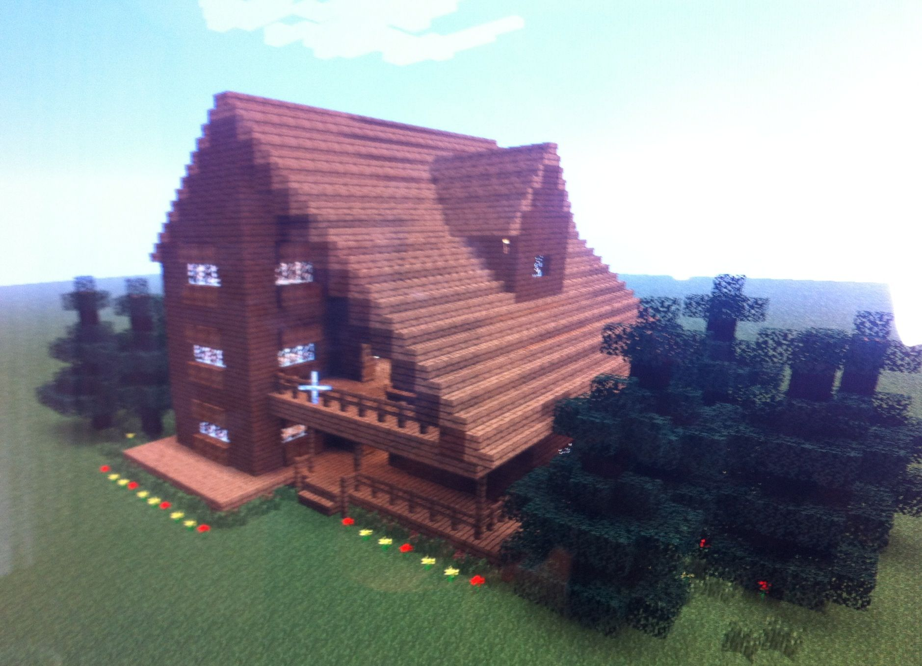 This House Is A Cabin Or Big Cottage Minecraft Houses