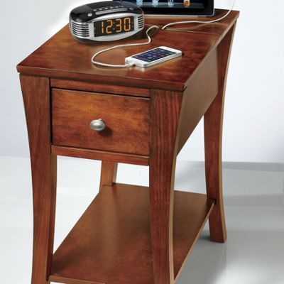 charging station end table. | that's interesting | pinterest