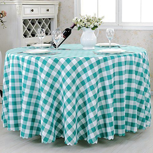 Grid Tablecloth Picnic Blanket Hotel Tablecloth Table Cloth Restaurant Tablecloth Multi Color Plaid Round Tablec Round Tablecloth Table Cloth Cool Furniture