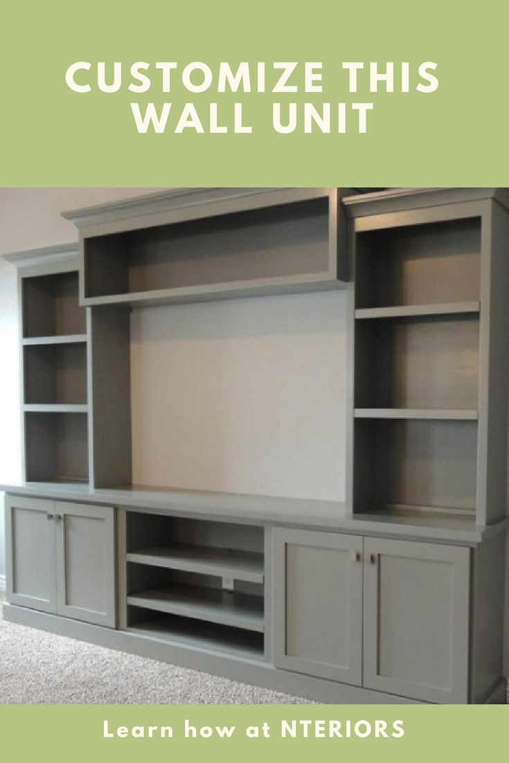 Wall units can now be designed to fit the exact width and height of ...