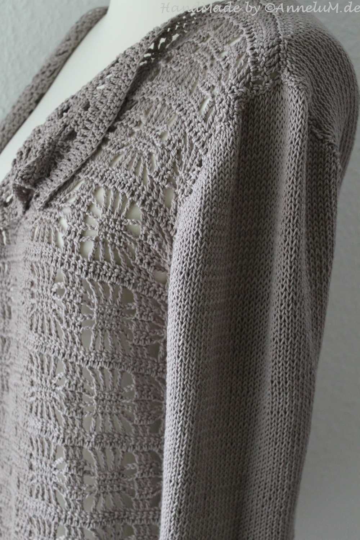 Strick-Häkel-Jacke mit Sonnenfenster-Muster | Häkeln und Stricken ...