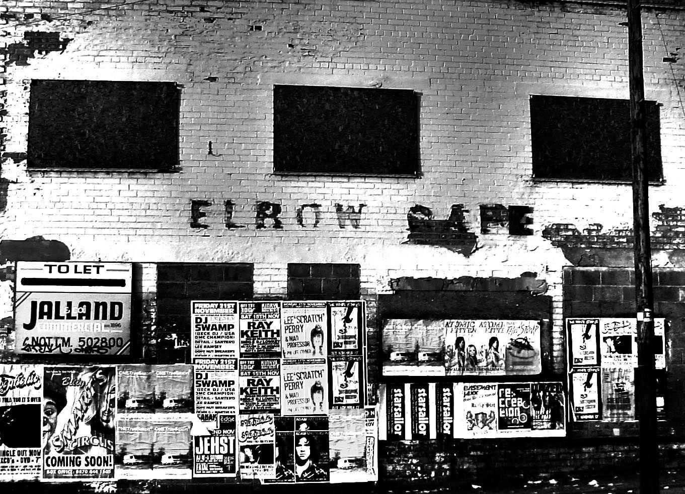 Elbow Café, Nottingham Nottingham, Photo wall, History