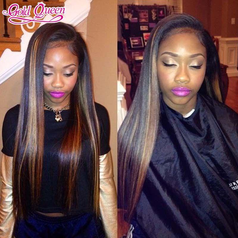 Brown Highlights On Black Hair Weave