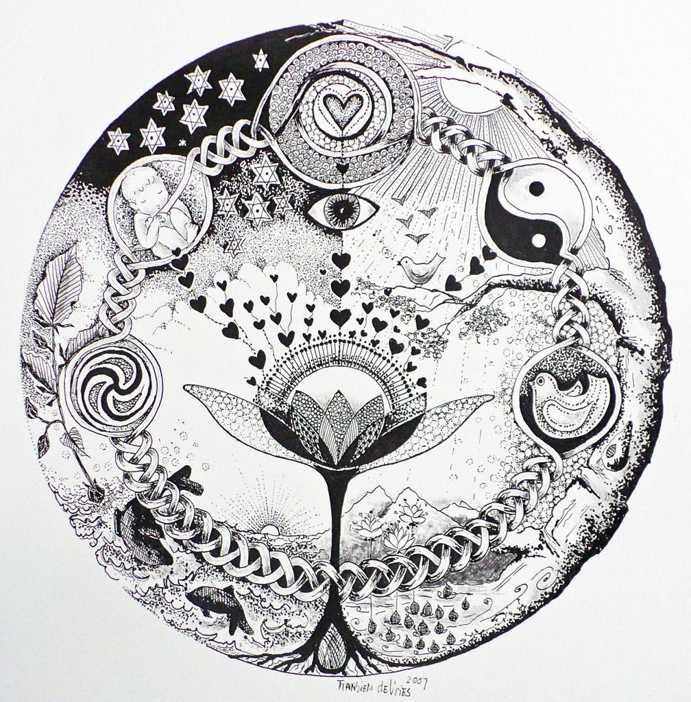 Fransien De Vries Geboorte Mandala Mandala Kleurplaten Mandala Art Mandala
