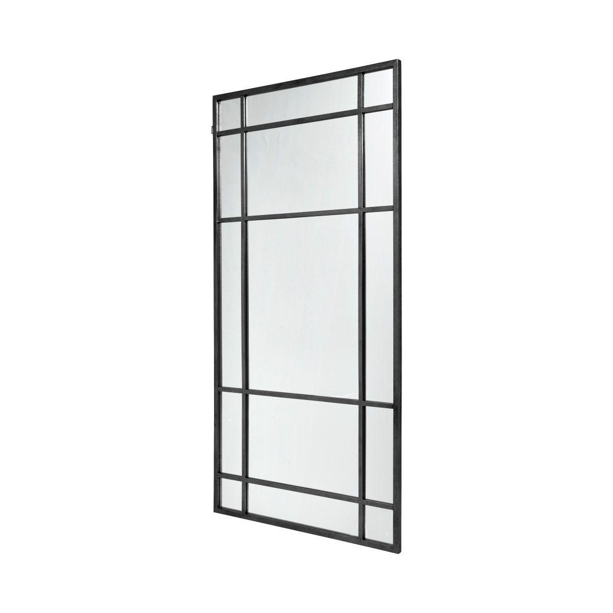 stor spegel silverram