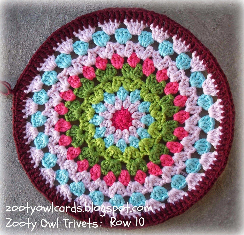 Zooty Owl Trivets: Pattern | crochet doilies, exagons,triangles ...
