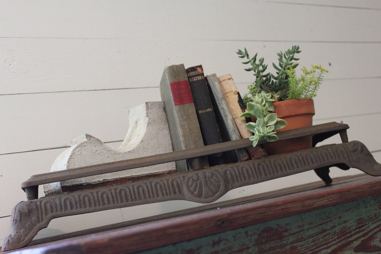 salvaged cast iron fireplace insert grate unique ornate vintage