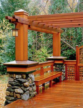 Asian Inspired Pergola And Deck Идеи Устройства Заднего 400 x 300