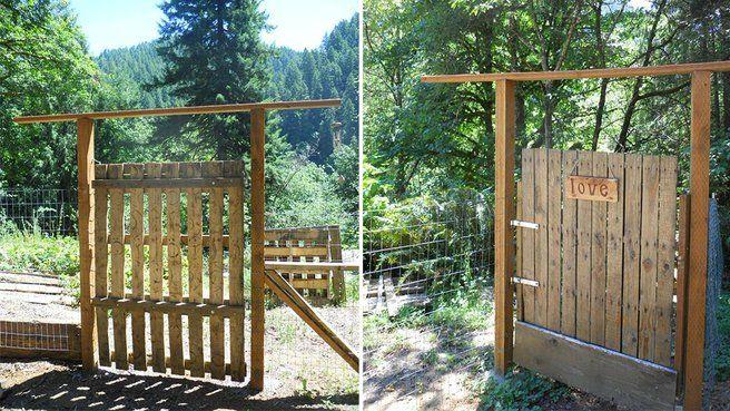 J 39 aime cette photo sur et vous porte for Fabriquer une porte en bois de jardin