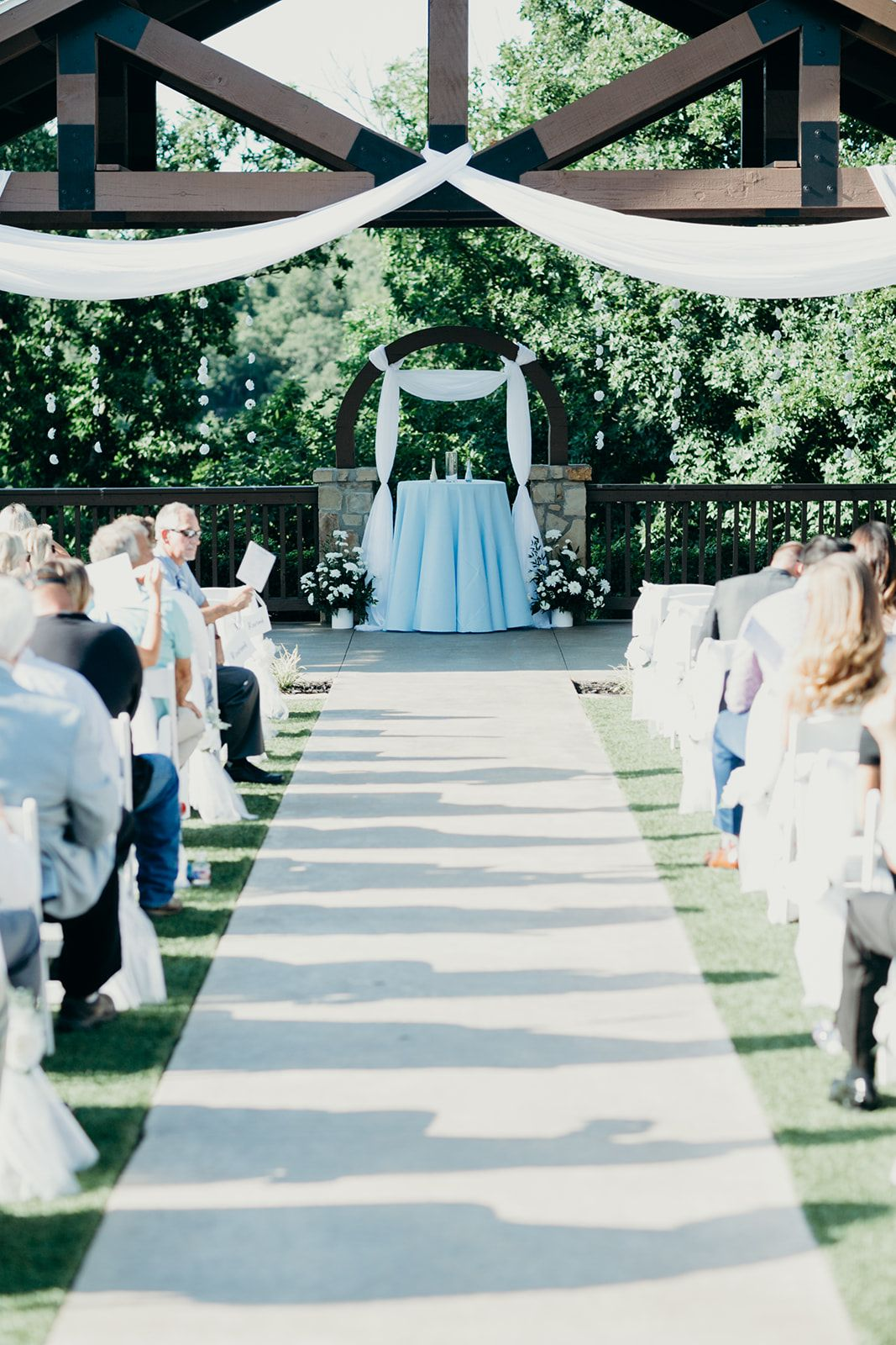 Outdoor Wedding Ceremony Drapery Outdoor Wedding Ceremony