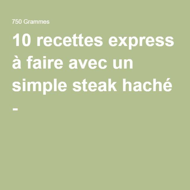 10 recettes express à faire avec un simple steak haché -