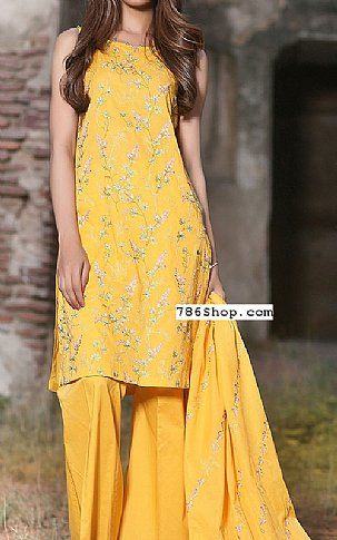 Yellow Lawn Suit   Buy Kayseria Fashion Dress is part of lawn Design Dress - Pakistani Lawn Suits with prices online shopping in USA, UK    Pakistani Lawn clothing for sale with Free Shipping  Call +1 5123801085