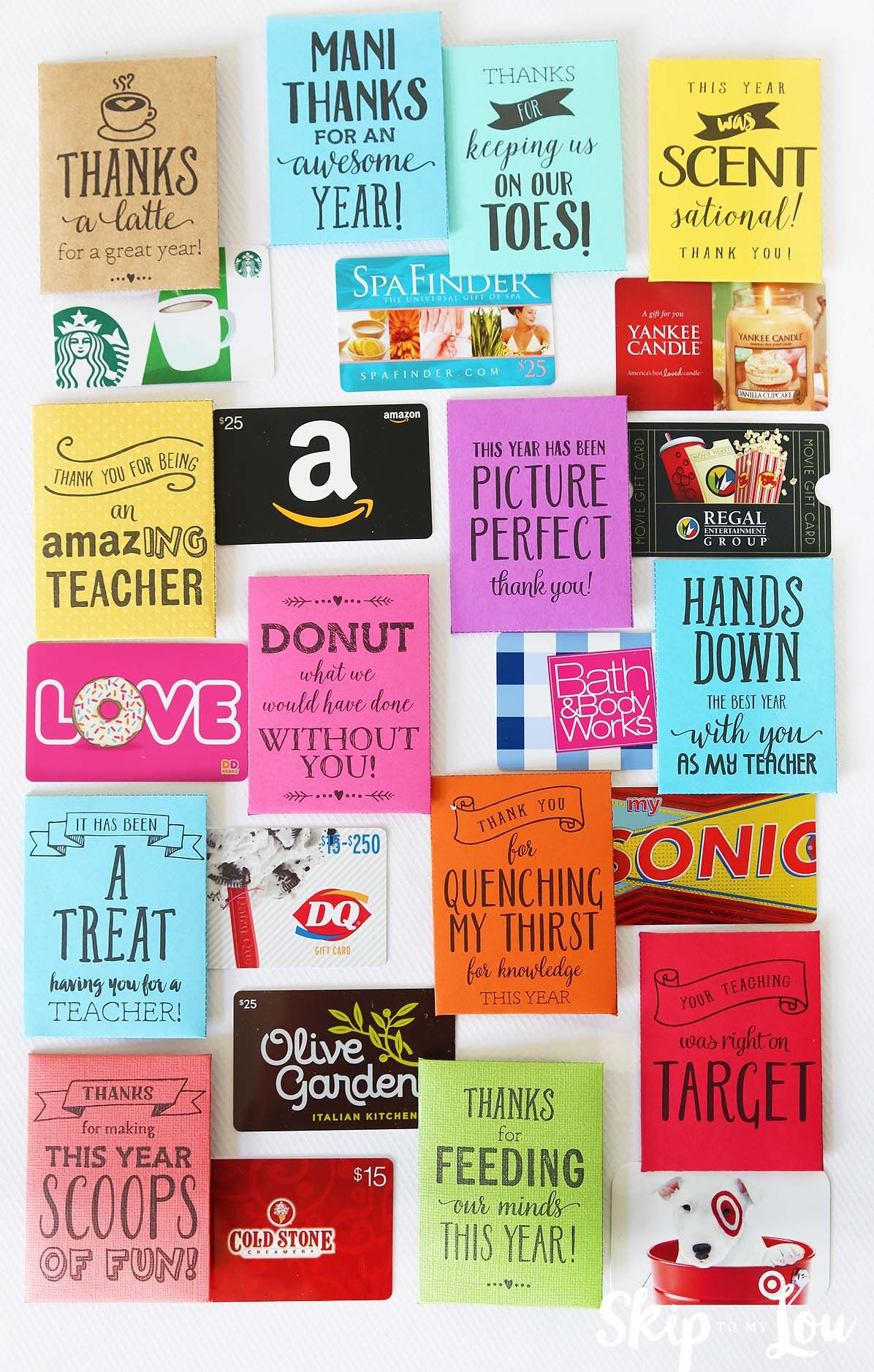End of the year teacher gifts (Skip To My Lou)   Pinterest   Kind