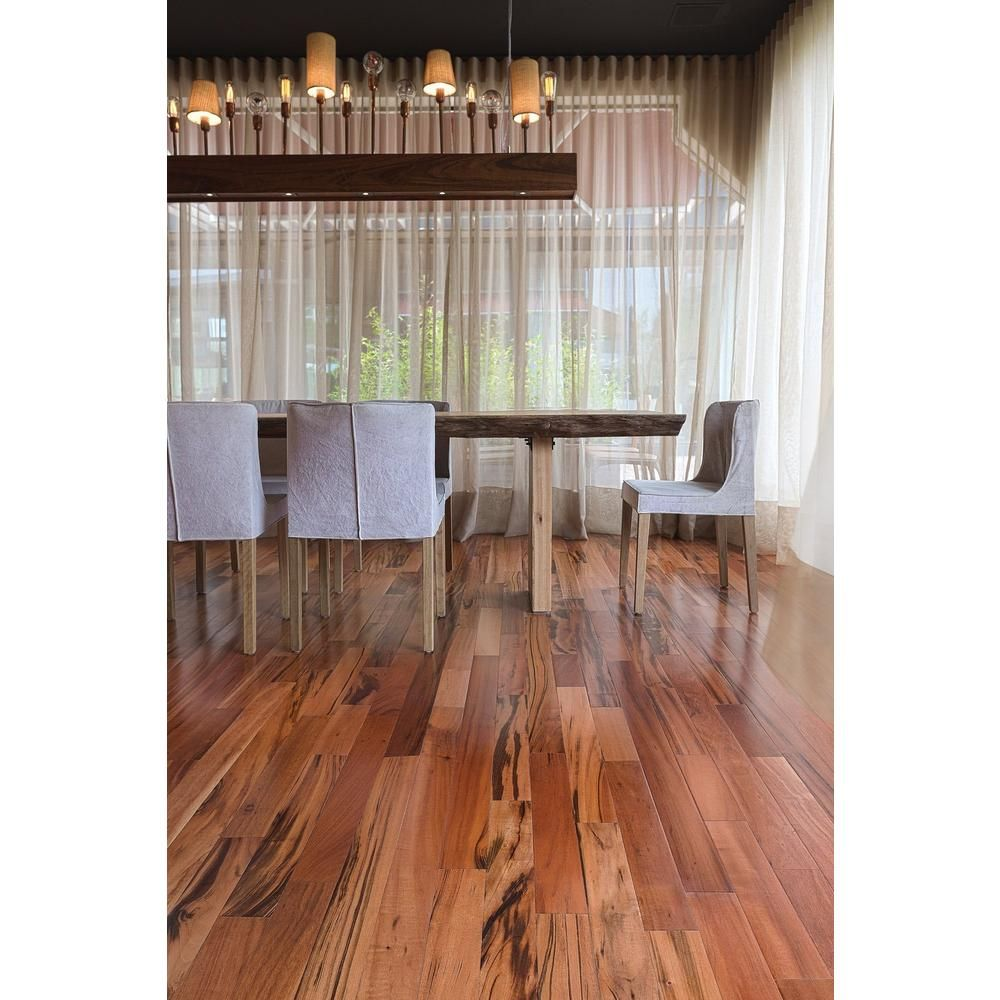 Brazilian Tigerwood Natural Solid Hardwood Floor & Decor