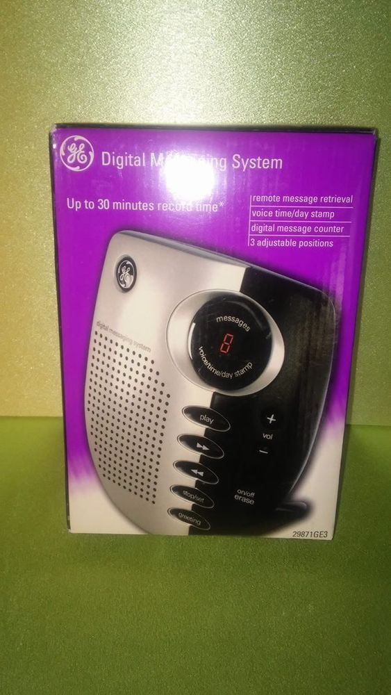ge digital messaging system 29871ge3 black and silver free us shipping rh pinterest com ge digital messaging system 29878ge1-b manual ge digital messaging system 29869ge2-b manual