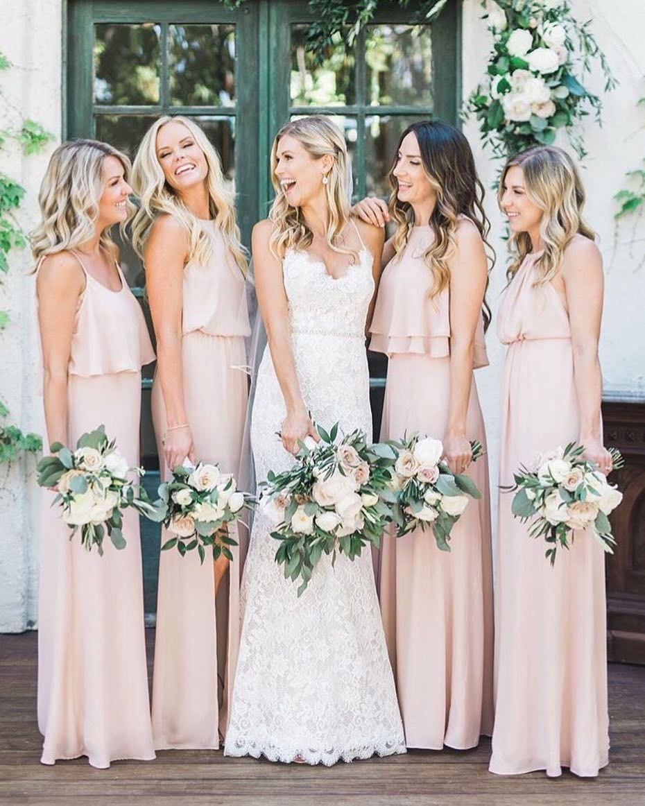 Saturdays Are For The G I R L S Beauty Hair Design Visage Peach Bridesmaid Dresses Blush Pink Bridesmaid Dresses Light Pink Bridesmaid Dresses