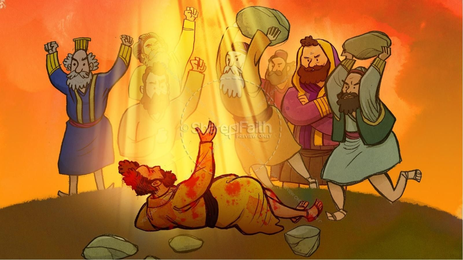 Acts 7 The Stoning Of Stephen Kids Bible Story Con