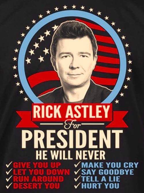 He's got my vote!