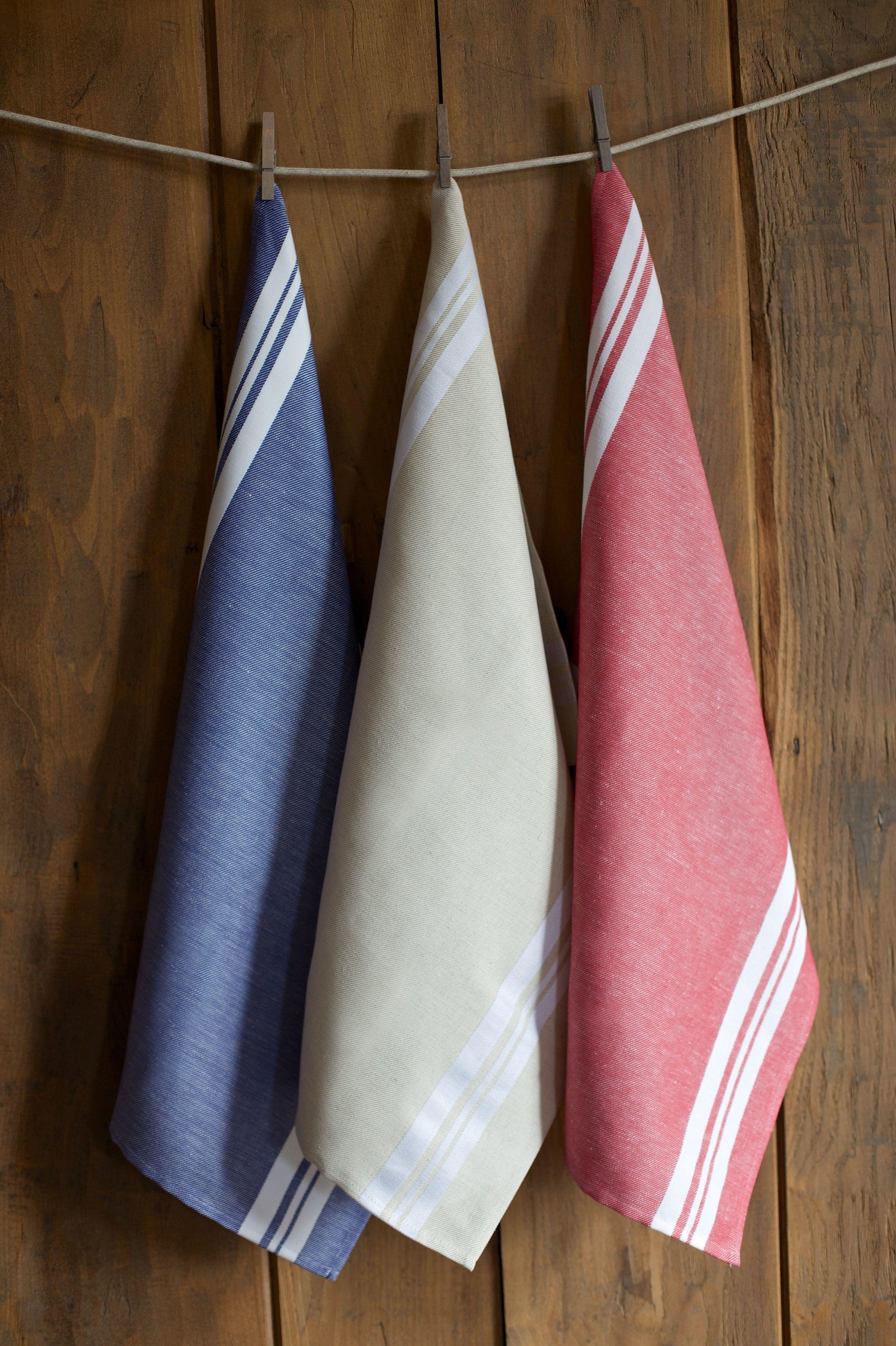 Torchons coton Jean-Vier St Jean de Luz - Cotton kitchen towels Jean-Vier St Jean de Luz >> http://www.jean-vier.com/