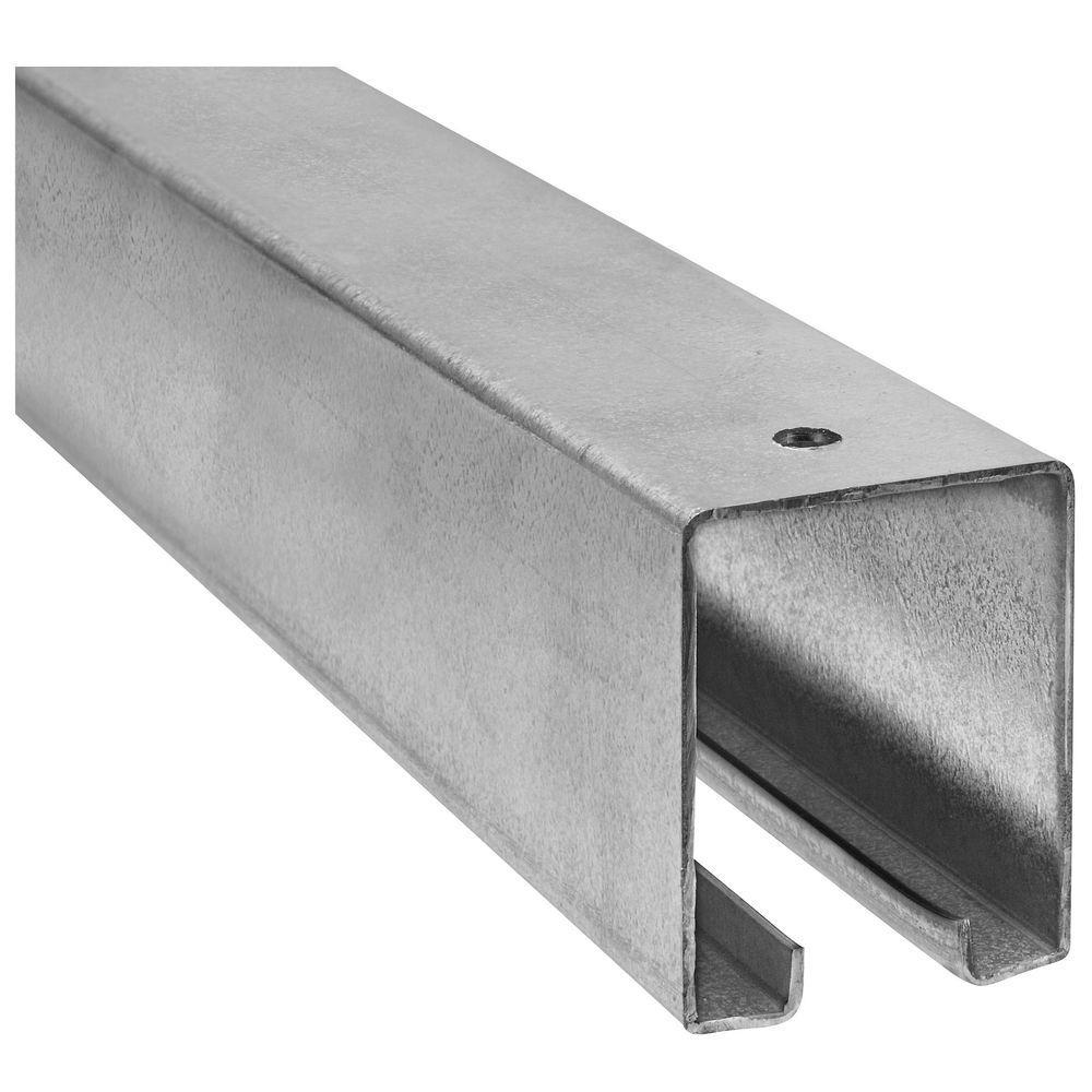 National Hardware Galvanized Plain Box Rail. Sliding Door ...