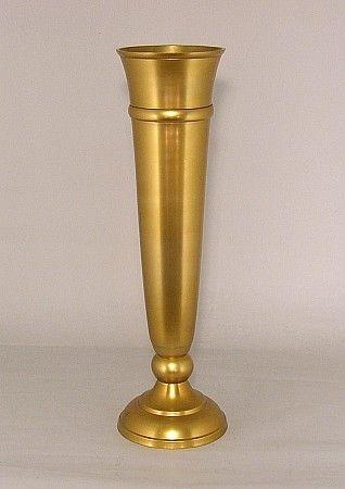 Show Details For Antique Gold Trumpet Vase 51613 65dx245h