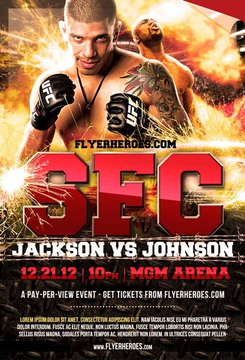 MMA Fight Night Free Flyer Template - http\/\/ffflyer\/mma-fight - ufc flyer template