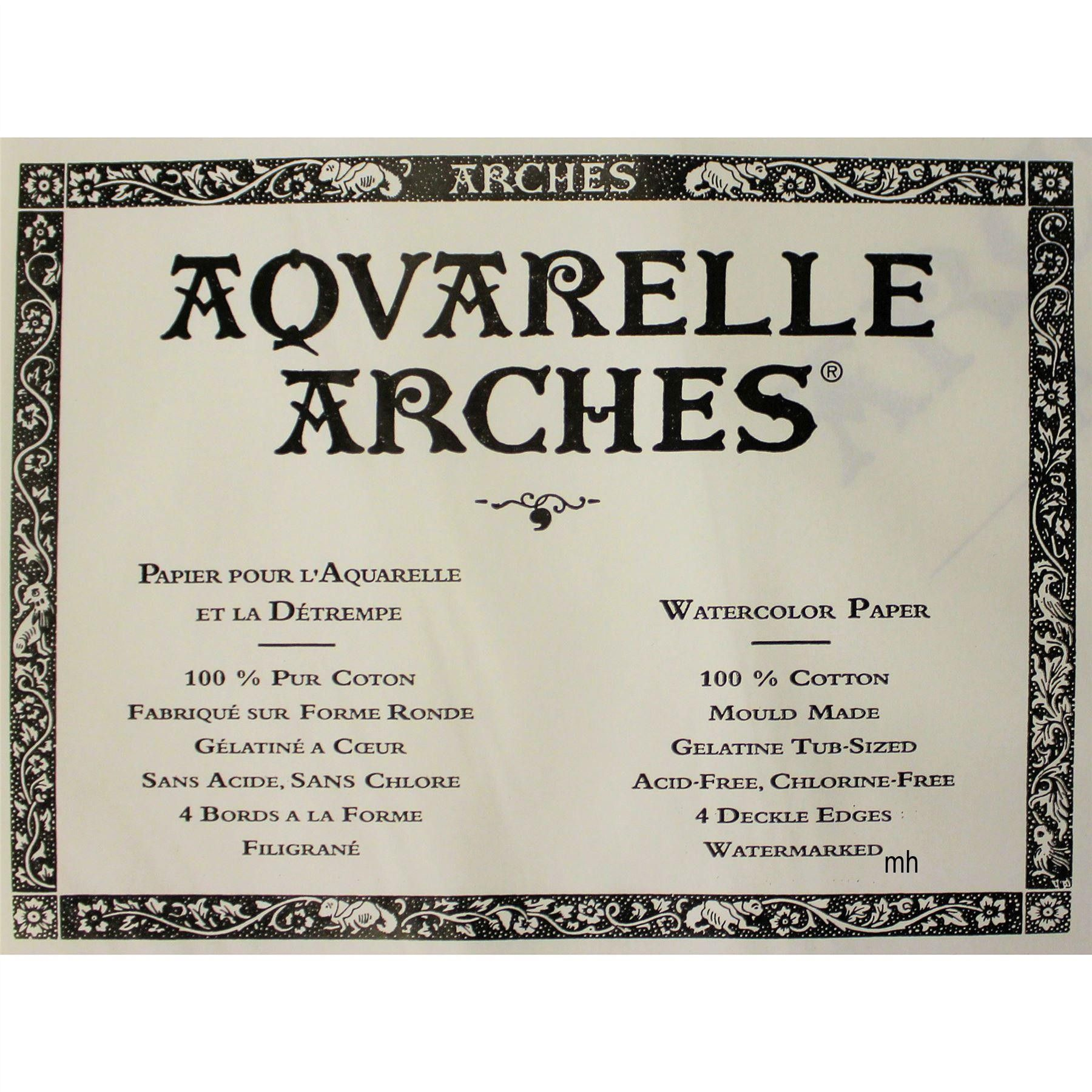 Canson 640gsm Aquarelle Arches Watercolour 2 Sheets Cold Pressed