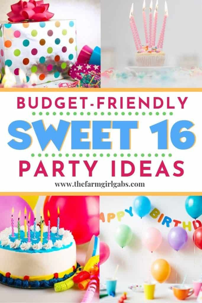Planning a Budget-Friendly Sweet 16 Celebration! #sweet16birthdayparty