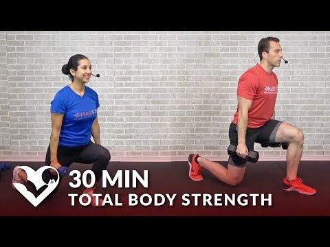 30 minute total body strength workout at home  hasfit