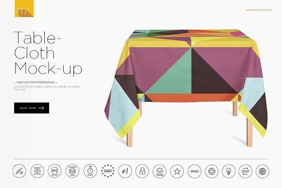 Tablecloth Mock Up By Mesmeriseme Pro On Creativemarket Custom Printed Napkins Custom Table Cloth Wellness Design