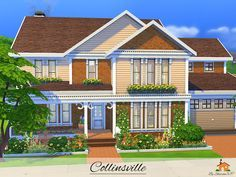 Collinsville is  family home built on  lot in newcrest found tsr category  sims residential lots also rh pinterest
