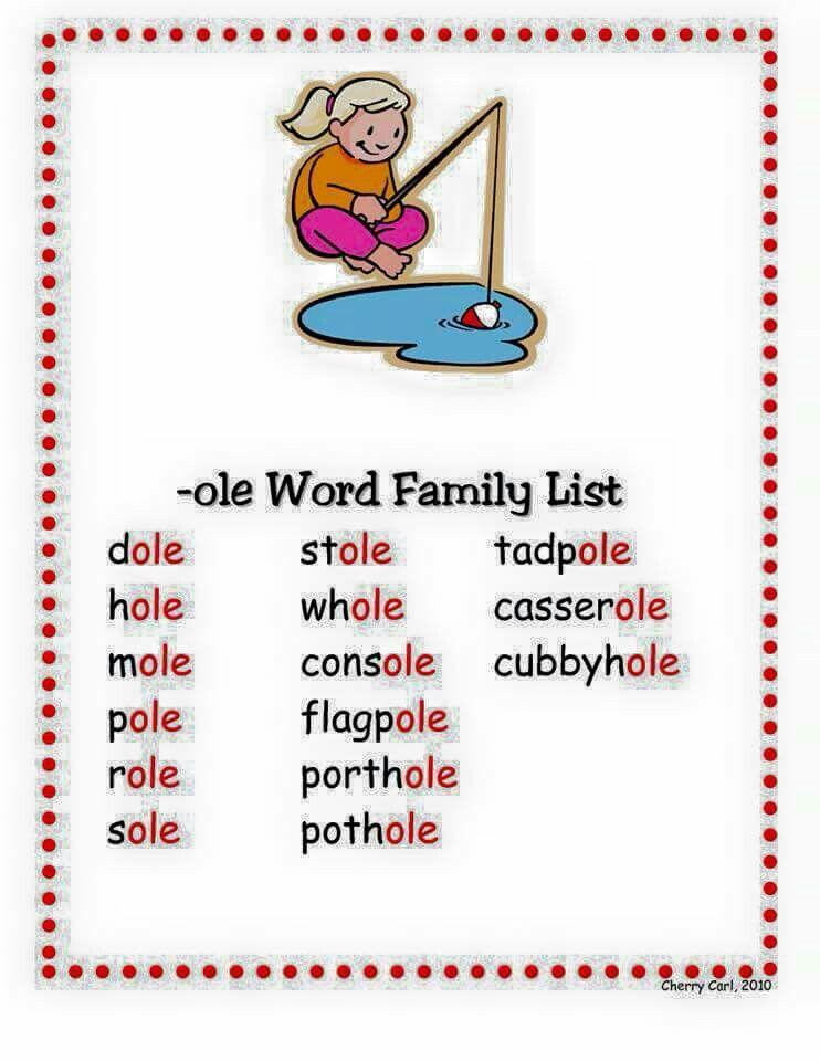 Pin von Chia Hwee auf Word families | Pinterest