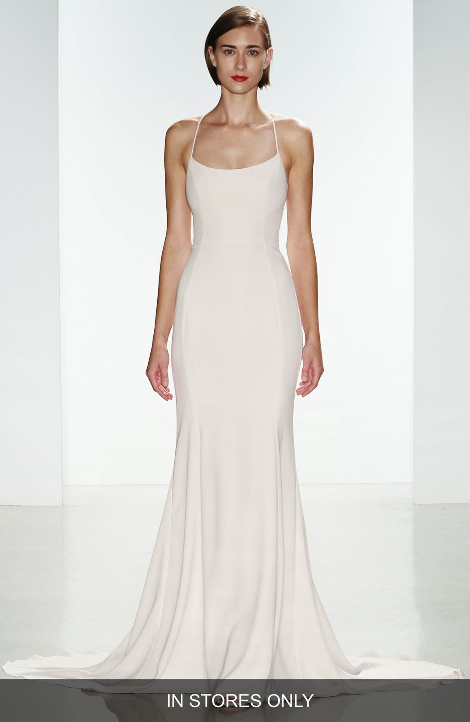 Nordstrom wedding dress  Audreyu Crepe Racerback Gown  Crepes Gowns and Nordstrom