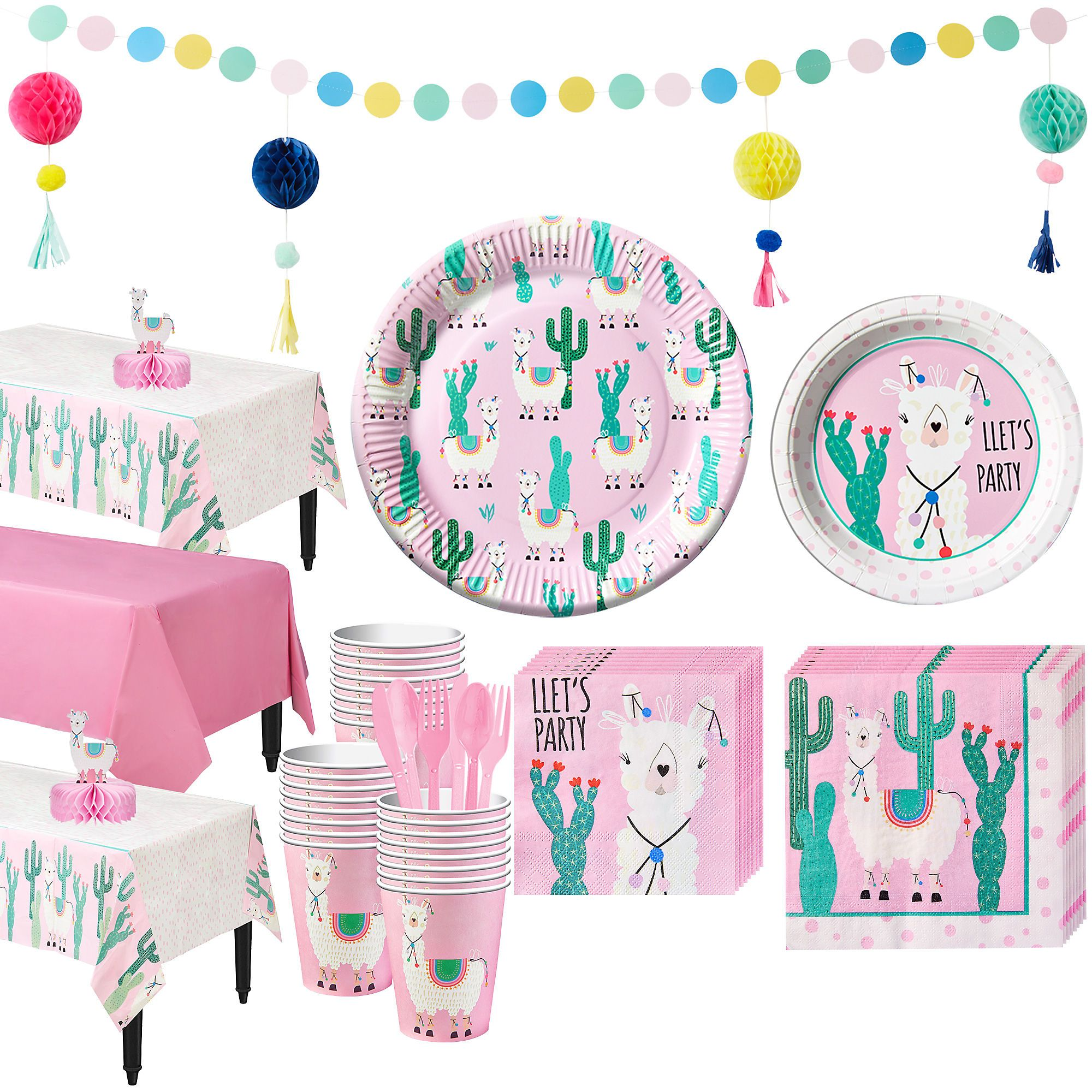 Free 2 Day Shipping On Qualified Orders Over 35 Buy Party City Llama Tableware Kit For 24 Guests In 2020 Birthday Party Supplies Llama Birthday Fiesta Birthday Party