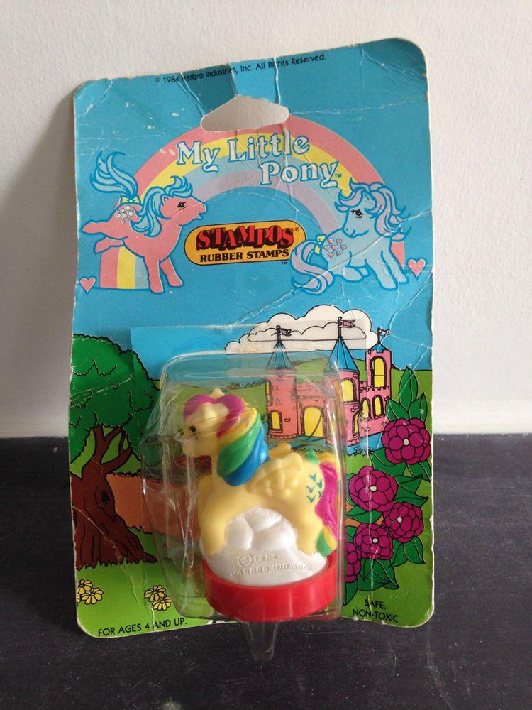 My Little Pony G1 Skydancer Stamp With Card Vintage My Little Pony Hasbro My Little Pony My Little Pony