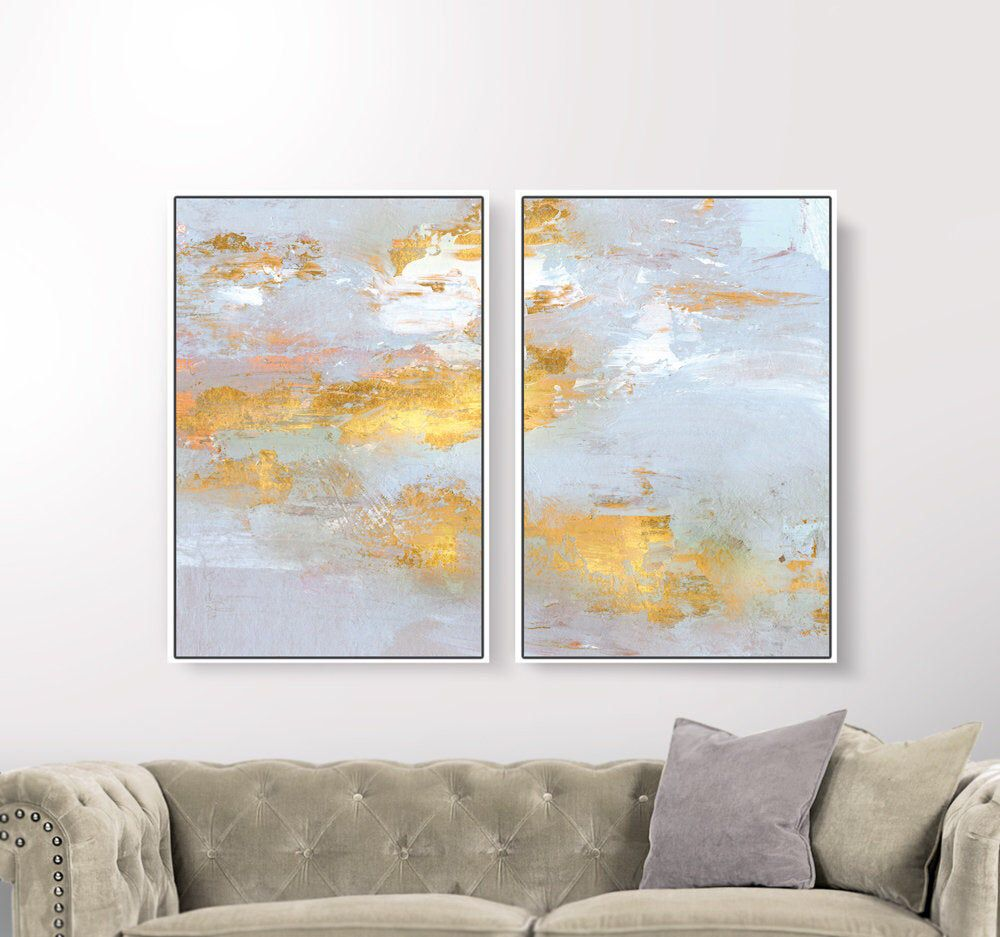 Set Of 2 Prints Abstract Art Prints Large Wall Art 24x36 Print Printable Abstract Art Gold And Gray Insta Abstract Art Prints Large Wall Art Big Wall Art