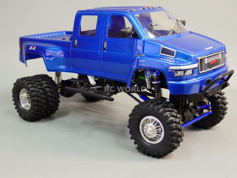 Axial Scx10 1 10th Rc Truck Gmc Top Kick Dually 4wd 1 9 Rock Crawler Axial Rc Cars And Trucks Rc Trucks Rock Crawler