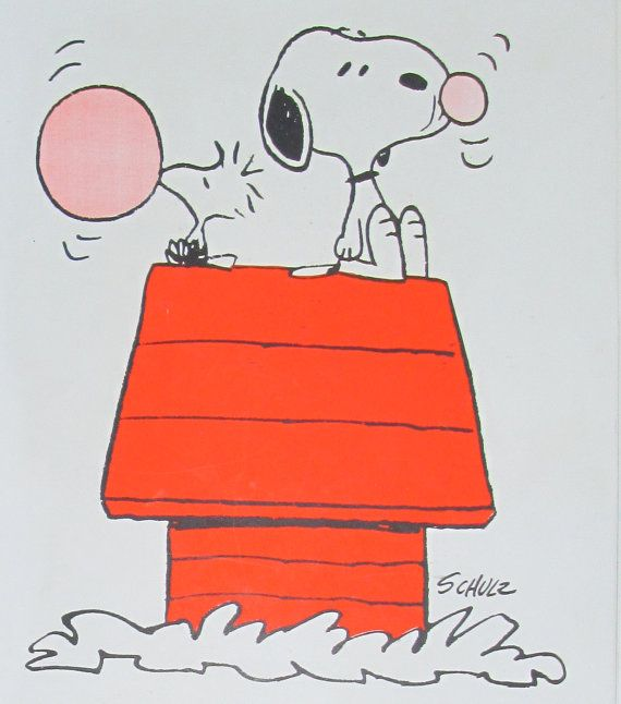 1965 Snoopy Notebook Blowing Bubbles Contest Between Snoopy And Woodstock