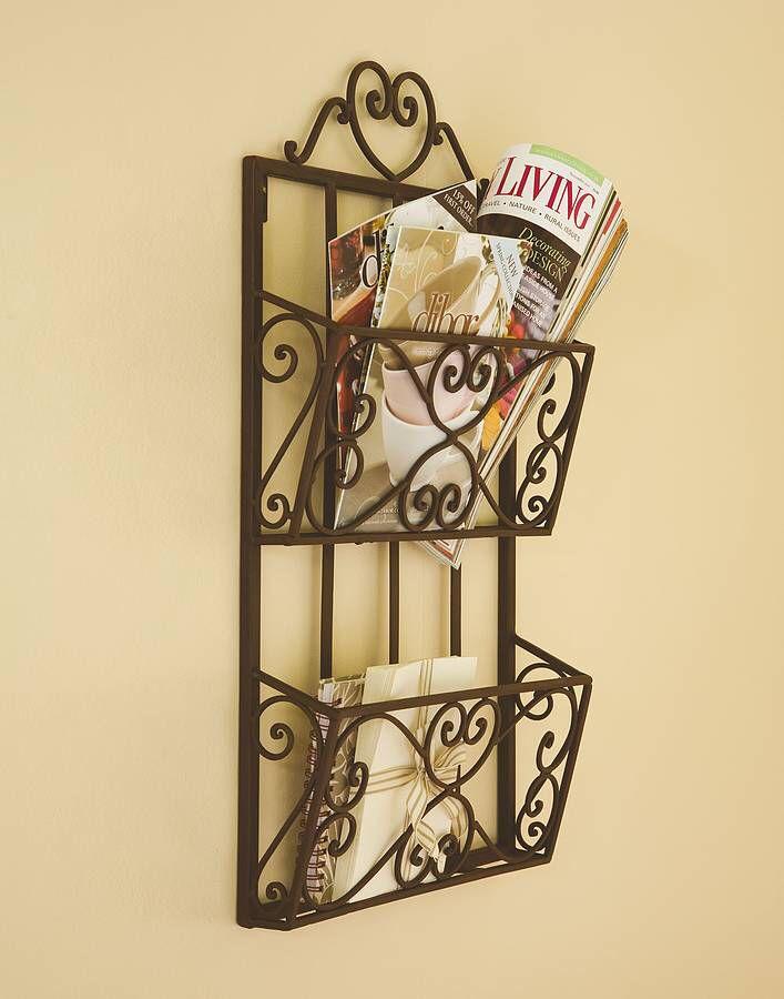 Cream Chicken Wire Contemporary Wall Magazine Rack Toilet Accessories Set Baskets On Wall Magazine Rack