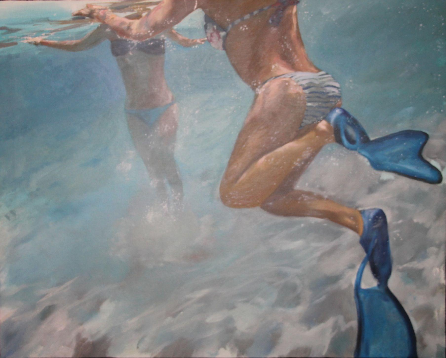 Sirenas 1. Primera de la serie Sirenas. En la aguas turquesas de Cerdeña