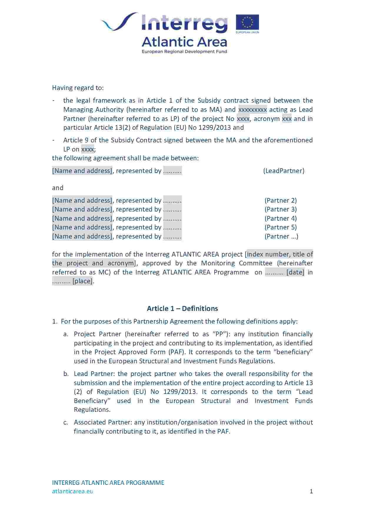 Partnership Agreement Amendment Agreement