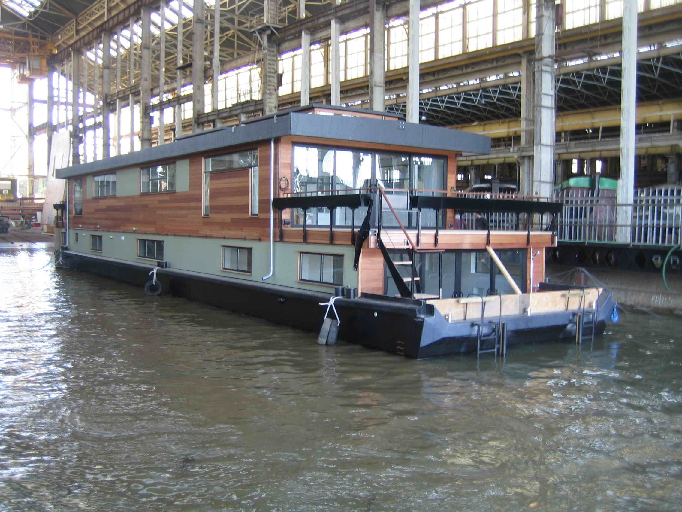 Houseboat Custom Designed By Dirkmarine Build On A Concrete Hull