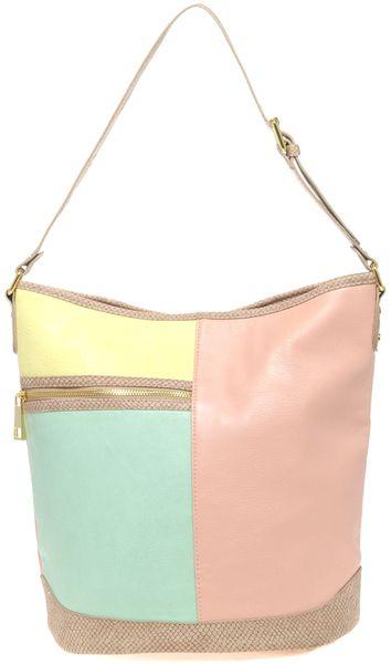 21281093d01 Women's Pastel Colour Block Bucket Bag   Pastel Colours   Bags ...