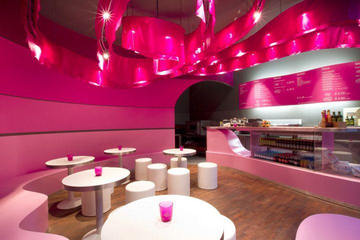 Mimizza pizza restaurant, Berlin   Cafe bar design, Bar