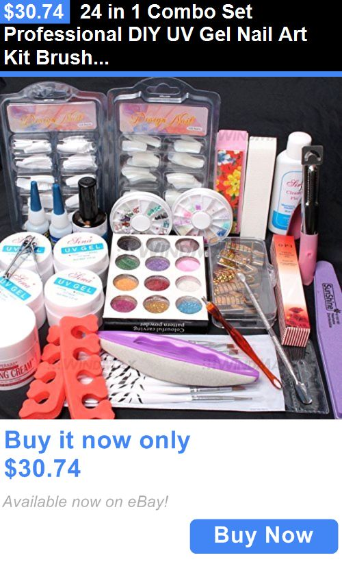 health and beauty: 24 In 1 Combo Set Professional Diy Uv Gel Nail ...