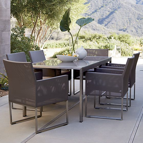 Dove Grey Large Vase Reviews Crate And Barrel Outdoor Furniture Collections Outdoor Dining Chairs Rectangular Dining Table