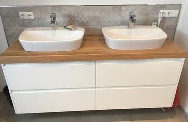 Asteiche 1610x510x50 Glatte Baumkante Preis 455 00 Ohne Unterschrank Weiss Unterschrank Badezimmer Unterschrank Badezimmer Unterschrank Holz